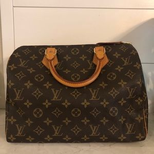 EUC Louis Vuitton Monogram Speedy 30